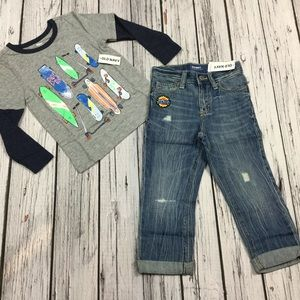 Old Navy Boys 18-24 M 2T 3T Shirt & Jeans Outfit